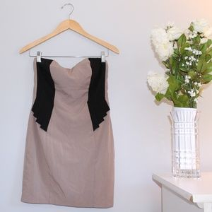 Forever 21 NWT Taupe and Black Mini Dress